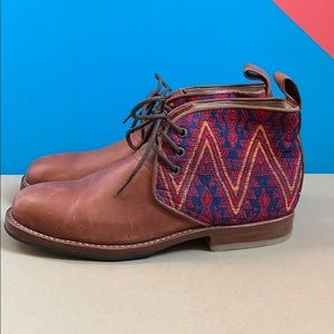 Vintage Handmade Woven Boots from Guatemala